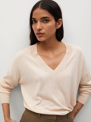 Пуловер пудрового кольору | 5647443