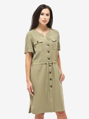 Сукня кольору хакі | 5655241