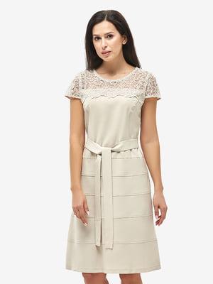 Платье бежевое | 5655261