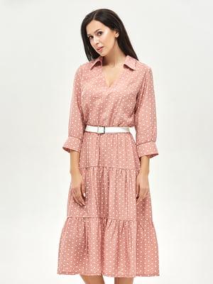 Сукня рожева в горошок | 5655281