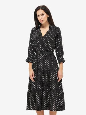 Платье черное в горошек | 5655282