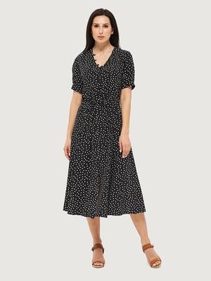 Платье черное в горошек | 5655238