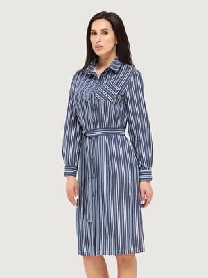Платье синее в полоску | 5655270