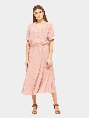 Платье розовое в горошек | 5655235