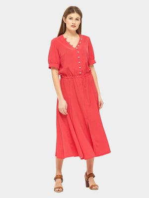 Платье красное в горошек | 5655234