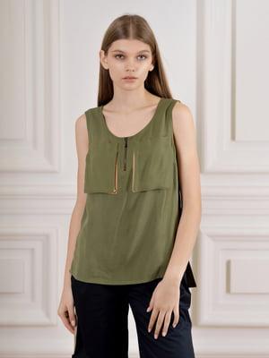 Блуза кольору хакі | 5471738