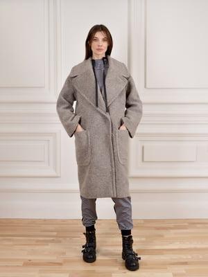 Пальто бежево-коричневое | 5655411