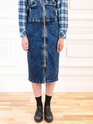 Юбка джинсовая темно-синяя | 5567061