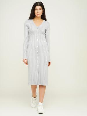 Сукня світло-сіра у смужку | 5656200