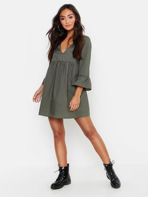 Сукня кольору хакі | 5646760