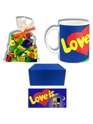 Набір подарунковий: чашка, жуйка (40 шт.) та коробка | 5653291