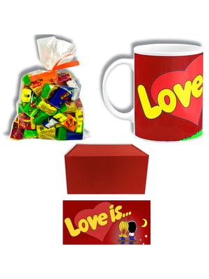 Набір подарунковий: чашка, жуйка (40 шт.) та коробка | 5653292
