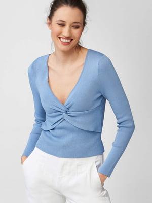 Пуловер блакитного кольору | 5647214