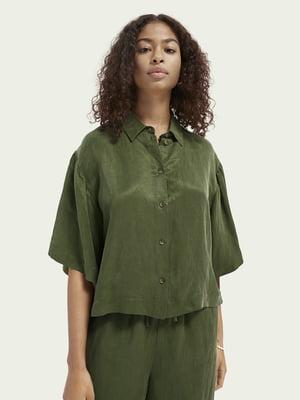 Рубашка цвета хаки | 5647357