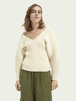 Пуловер вершкового кольору | 5647367