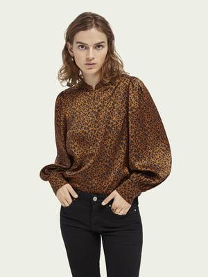 Блуза в анималистический принт | 5647370