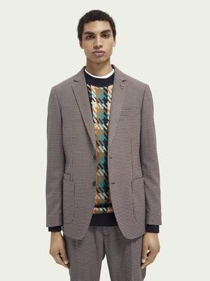 Пиджак в «гусиную лапку» | 5647388
