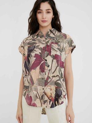 Рубашка в принт | 5635977
