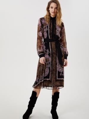 Платье комбинированной расцветки | 5656765