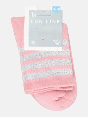 Носки розовые в полоску | 5651749