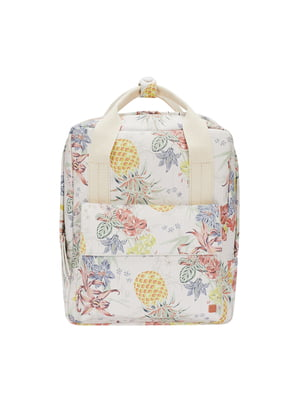 Рюкзак молочного цвета в принт | 5656819