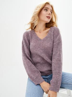 Пуловер бледно-фиолетового цвета | 5563484