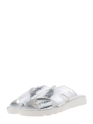 Шльопанці сріблястого кольору   5594045