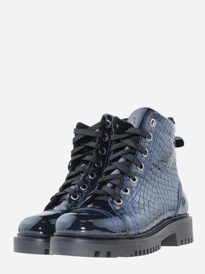 Ботинки синие с декором | 5641105
