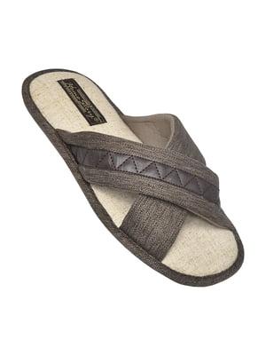Тапочки коричневые   5661144