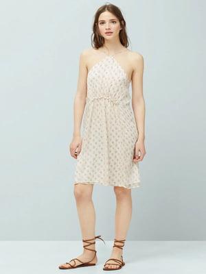 Платье белое в принт | 5517533