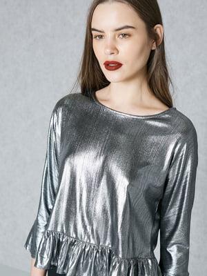 Блуза серебристого цвета   5535455