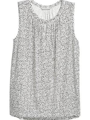 Блуза белая в принт | 5622562