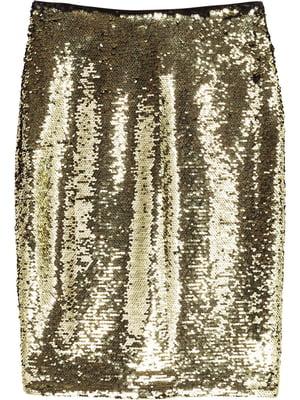 Юбка золотистая декорированная | 5623158
