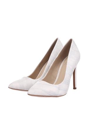 Туфлі білі в розмитий принт | 5657744