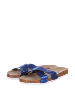 Шлепанцы сине-коричневого цвета | 5657761