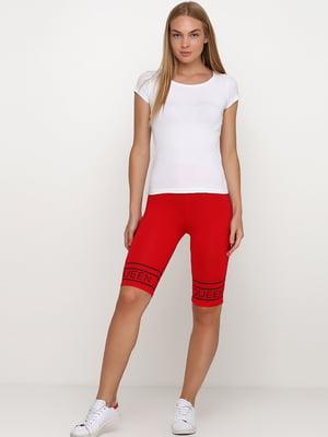 Велосипедки красного цвета с логотипом | 5657783