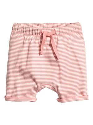 Шорты розового цвета в полоску | 5657828