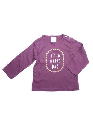 Лонгслив фиолетовый в принт | 5657993