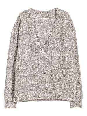 Пуловер серый | 5658089