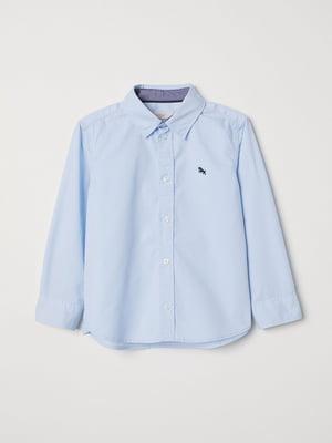 Рубашка голубого цвета | 5658205