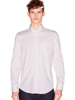 Рубашка белая в крапинку | 5658210