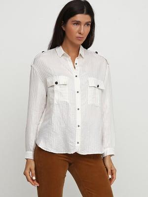 Сорочка біла в смужку   5658216