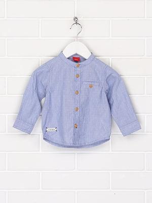 Рубашка голубого цвета в крапинку | 5658232
