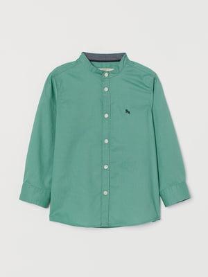 Рубашка зеленого цвета | 5658249