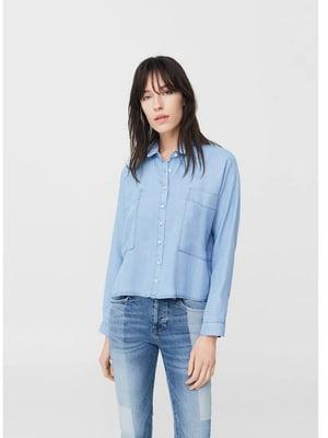 Рубашка голубого цвета   5658253