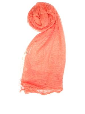 Шарф персикового цвета | 5658293