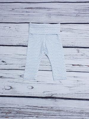 Леггинсы белые в волнообразную полоску | 5658426