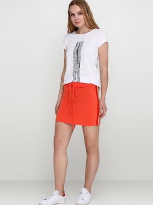 Юбка морковного цвета с лампасами | 5658507