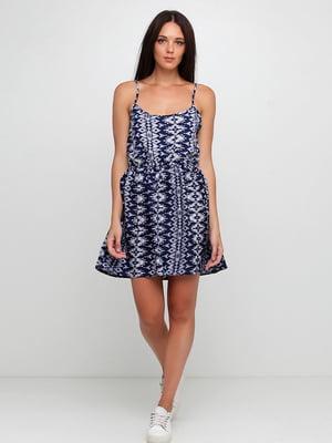 Сукня синя з орнаментом | 5658710
