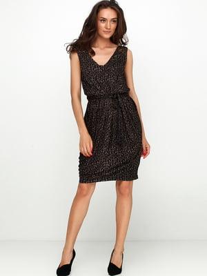 Сукня чорна з декором | 5658761